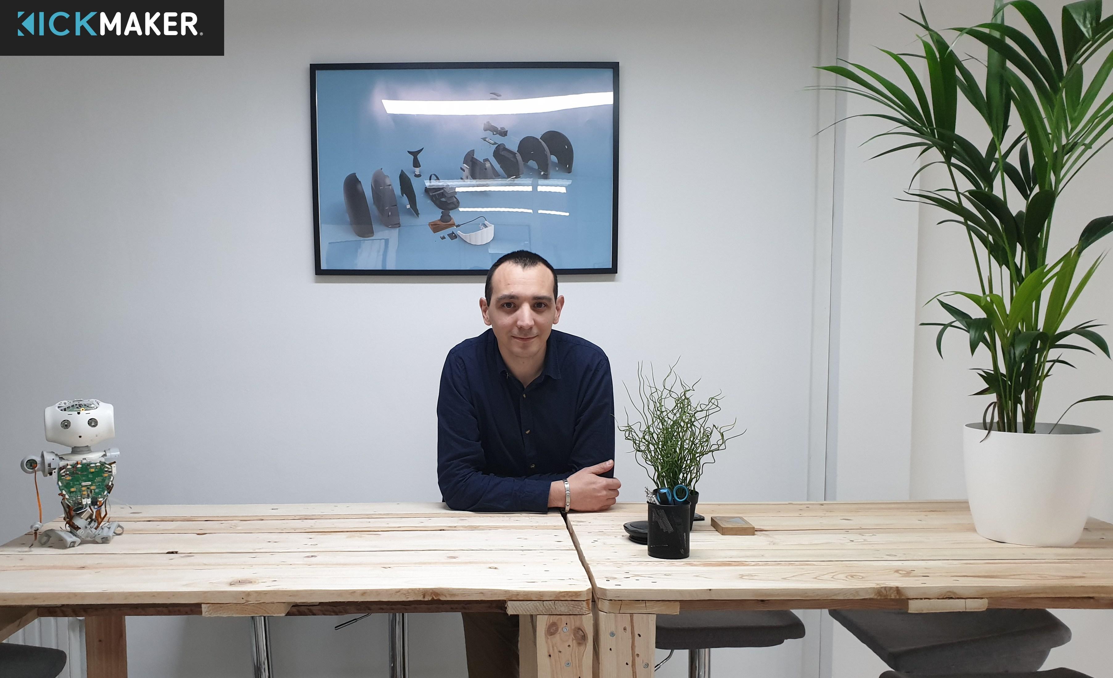 Stepahne, chef de projet industrialisation Kickmaker